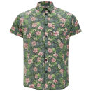 Jack & Jones Originals Men's Floral Shirt - Green/Black