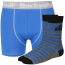 Boxfresh Men's Sock & Boxer Gift Set - Blue