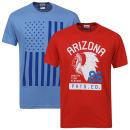 Varsity Team Players Men's 2-Pack Arizona & Flag Graphic T-Shirt - Multi