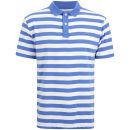 Gola Men's Yarn Dyed Stripe Polo Shirt - Optic White/Blue