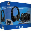 4Gamers Stereo Gaming Headset + 2 USB Oplaadkabels + Design Controller Standaard PS4 - Official Licensed