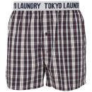 Tokyo Laundry Men's Jack Rabbit Woven Boxers - Oxblood