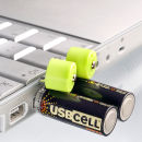 USBCELL Rechargeable AA Batteries
