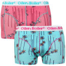 Oiler & Boiler Men's 2 - Pack Printed Boxers  - Blue Palm