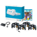 Nintendo Wii Basic With Super Smash Bros + 4 Gamecube Controllers