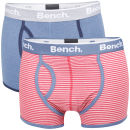 Bench Men's 2-Pack Fashion Boxers - Red Stripe/Blue
