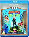 Monsters Vs Aliens 3D (3D Blu-Ray, 2D Blu-Ray and DVD)