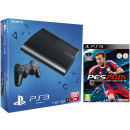 PS3 New Sony PlayStation 3 Slim Console (500 GB) with PES 2015 Pro Evolution Soccer