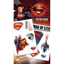 Superman Man of Steel Steel - Tattoo Pack