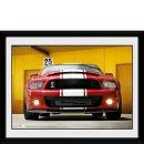 Ford Shelby GT500 Front - 8x6 Framed Photographic Oferta en Zavvi