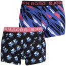 Bjorn Borg Men's 2- Pack Boxers Wild Thing and 3D Cubes Print - Classic Blue