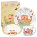 Little Rhymes Noah's Ark 3 Piece Melamine Breakfast Set - Multi