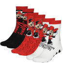 Minnie Mouse Women's 3-Pack Slouch Sock Gift Set - Red/Black/Ecru