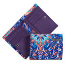 Animal Bergeggi Printed Canvas Wallet - Blue/Peach