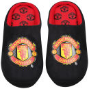 Bafiz Men's MUFC Defender Mules - Black/Red