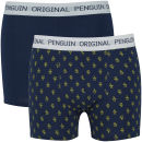 Original Penguin Men's 2 Pack All Over Penguin Design Boxers – Navy/Gold – XXL XXLNavy/Gold Zavvi por 32.49€