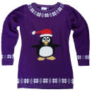 Christmas Jumper - Party Penguin Jumper Dress
