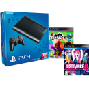 PS3: New Sony PlayStation 3 Slim Console (500 GB) - Black - Includes Just Dance 4 and Eyepet and Friends