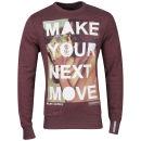 Crosshatch Men's Nice Move Crew Sweatshirt - Burgundy Marl