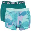 Bjorn Borg Herbalism Men's 2 Pack Boxer Shorts - Opal