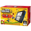 Nintendo 2DS  Blue and Black Console - Includes New Super Mario Bros 2