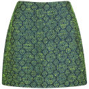 Neon Rose Women's Jacquard Mini Skirt - Jewel