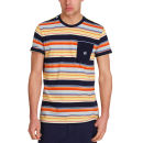 Mas-if Men's Trub Stripe T-Shirt - Navy