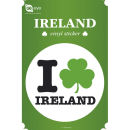 Ireland I Love - Vinyl Sticker - 10 x 15cm