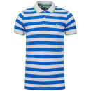 Kangol Men's Kicks Polo-Shirt - White/Turquoise