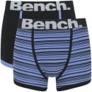 Bench Men's 2 Pack Stripe Fashion Trunks - Blue/Black