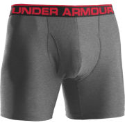 Under Armour Men's Original Boxer Jock 6 Inch Briefs - True Grey/Heather/Red