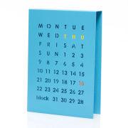 Block Perpetual Calendar - Blue