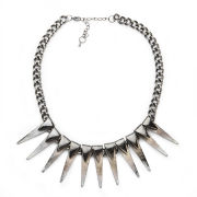 Impulse Women's Spike Necklace - Gunmetal