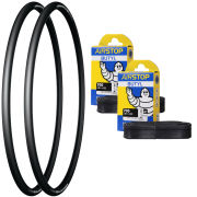 Michelin Pro 4 Grip Clincher Road Tyre Twin Pack with 2 Free Tubes - 700c x 23mm