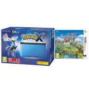 Nintendo 3DS XL Blue and Black Console - Includes Pokemon X & Fantasy Life