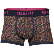 Ted Baker Paising Paizley Print Moulded Front Boxer - Navy