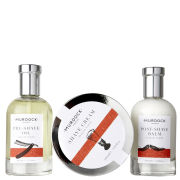 Murdock London Mini Shave Travel Set (Pre Shave Oil 15ml, Shave Cream 50ml, Post Shave Balm 15ml) Presented in slim blue box