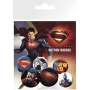 Superman Man of Steel Film Pack - Badge Pack