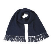 Collective Purl Stitch Scarf - Navy