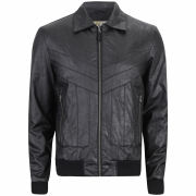Ringspun Men's Higson Leather Look Jacket - Black
