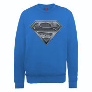 DC Comics Sweatshirt Superman Plate Logo - Royal Blue
