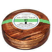Murdock London Luxury Traditional Shaving Soap - Cedarwood and Peppermint Presented in wooden bowl