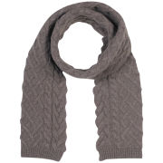 Johnstons of Elgin Cable Knit Cashmere Scarf - Driftwood
