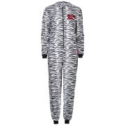 Betty Boop Women's Animal Print Fleece Onesies -Black & White