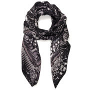 Jane Carr Exclusive to Harper's Bazaar The Snake Square Scarf - Kohl
