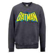 DC Comics Sweatshirt - Batman Retro Logo - Steel Grey