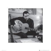 Johnny Cash Man in Black (Guitar) - 40 x 40cm Print