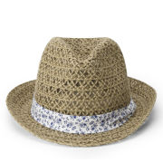 Boardman Bros Women's Crochet Trilby - Natural