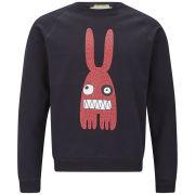 Peter Jensen Men's Monster Rabbit Jersey Sweatshirt - Black