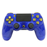 Official PlayStation DualShock 4 Custom Controller - Gold on Gloss Blue